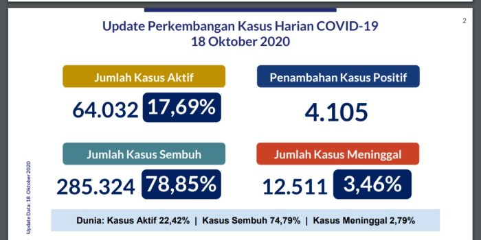 Analisis Data COVID-19 Indonesia (Update Per 18 Oktober 2020)