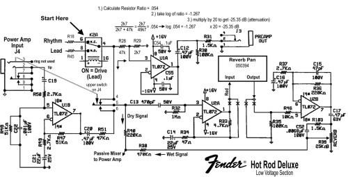 small resolution of fender hot rod deluxes mods part 3 fender deluxe amp wiring diagram