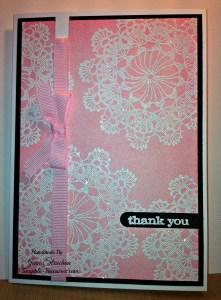 Pink Doily Stamp