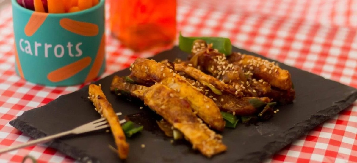 Chilli-honey potatoes