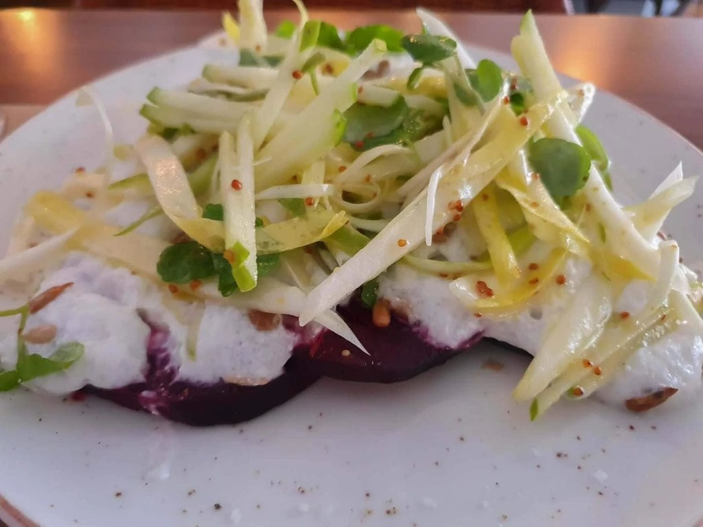 Best Restaurans in Sitges, Spain + What to Eat- Nem Restaurant- roasted beetroot