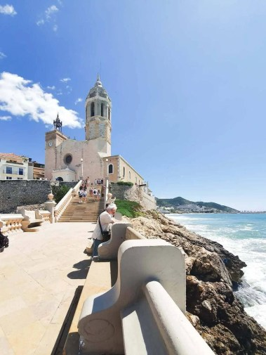 Best Things To Do In SITGES, Spain - church of sant bartomeu and santa tecla - front view