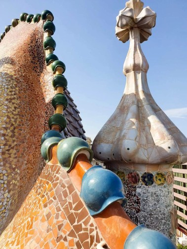 Casa Batllo, Barcelona - Tour Guide & Tips for Visiting- Rooftop - Dragon Back Roof