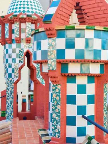 Casa Vicens, Barcelona – Gaudi's First Masterpiece - Review - Rooftop towers - tile-work