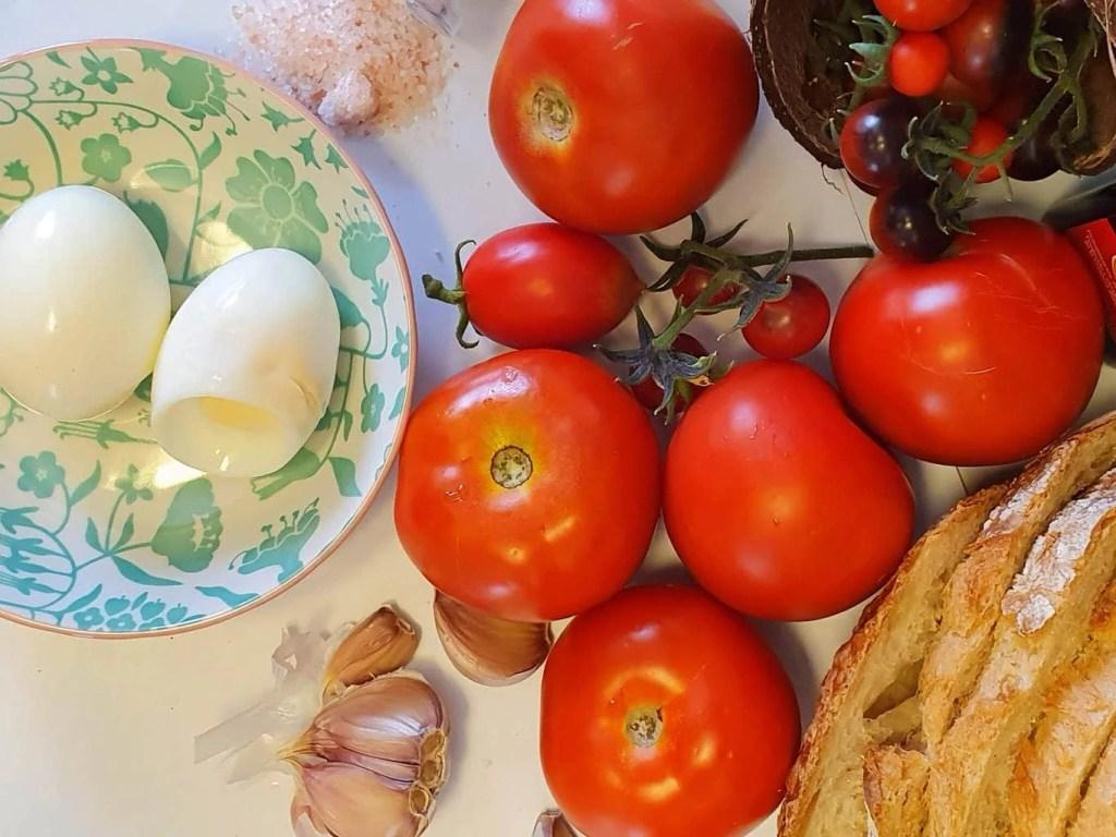 Salmorejo – Spanish Cold Tomato Soup - Ingredients - Tomatoes