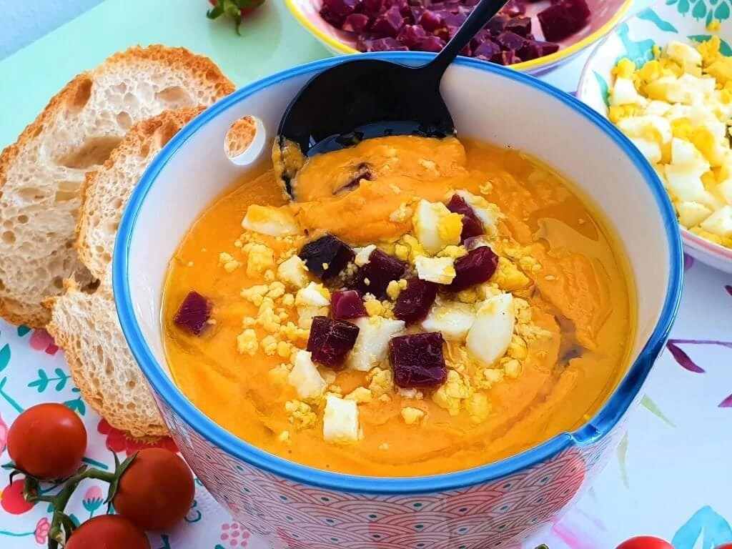 Salmorejo – Spanish Cold Tomato Soup - Served and ready to eat