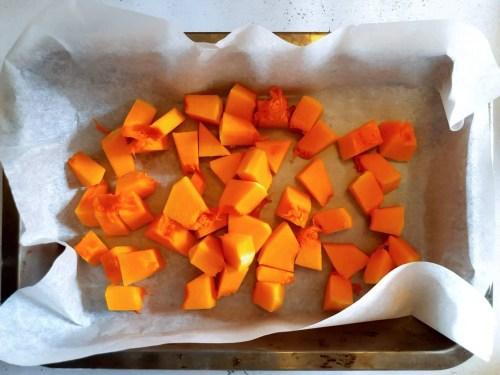 Baked Halloween Pumpkin Donuts - baking the pumpkin