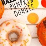 Baked Halloween Pumpkin Donuts - pin1