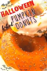 Baked Halloween Pumpkin Donuts - pin3