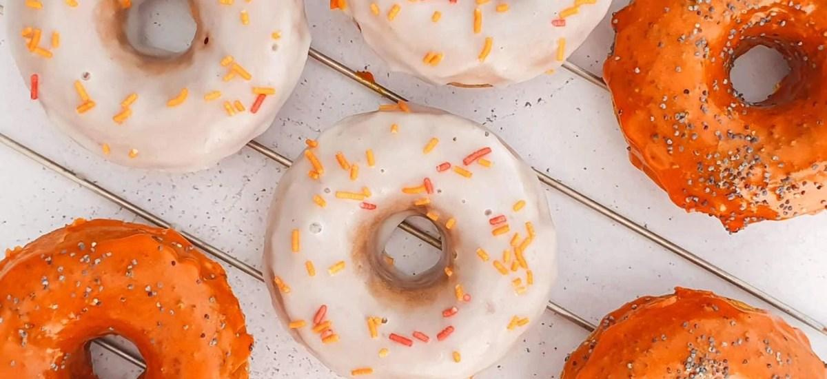 Baked Halloween Pumpkin Donuts