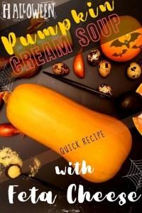 Pumpkin Cream Soup With Feta Cheese - pin1