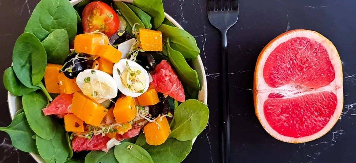 Pumpkin – Spinach Salad