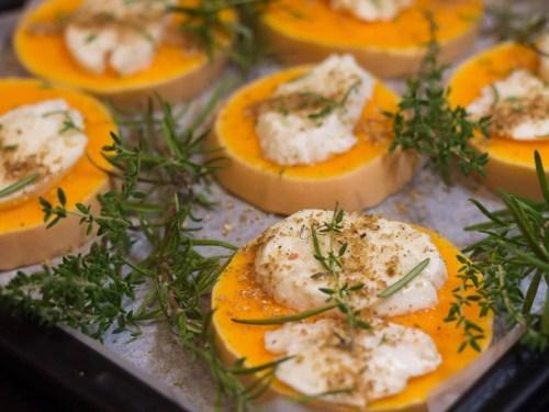 Roasted Butternut Pumpkin With Mozzarella - recipe ingredients - baking