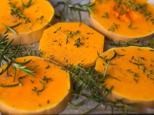 Roasted-Butternut-Pumpkin-With-Mozzarella-roasting-the-pumpkin-seasoned