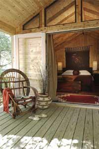 A Creekside King Cabin at El Capitan Canyon