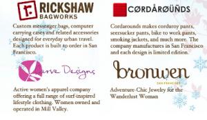 SF Made stores Rickshaw, Cordarounds, Curve Designs, Bronwen