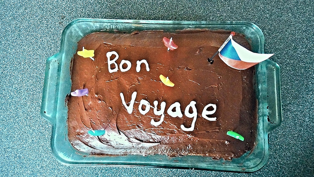 "cake ""bon voyage"" celebration travel ""lynn friedman"" tangodiva"