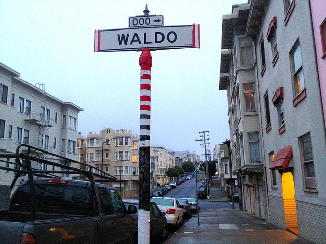 "where's waldo""  secret location hidden humor street sign ""lynn friedman"" ""tangodiva"""