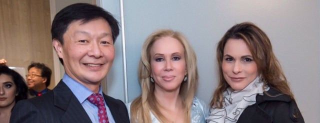 Albert Chow, Sophie Azouaou, and Teresa after her treatments