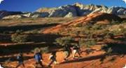 Hike in Snow Canyon with Red Mountain