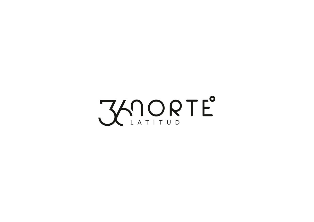 diseño de logotipo en colores blancos