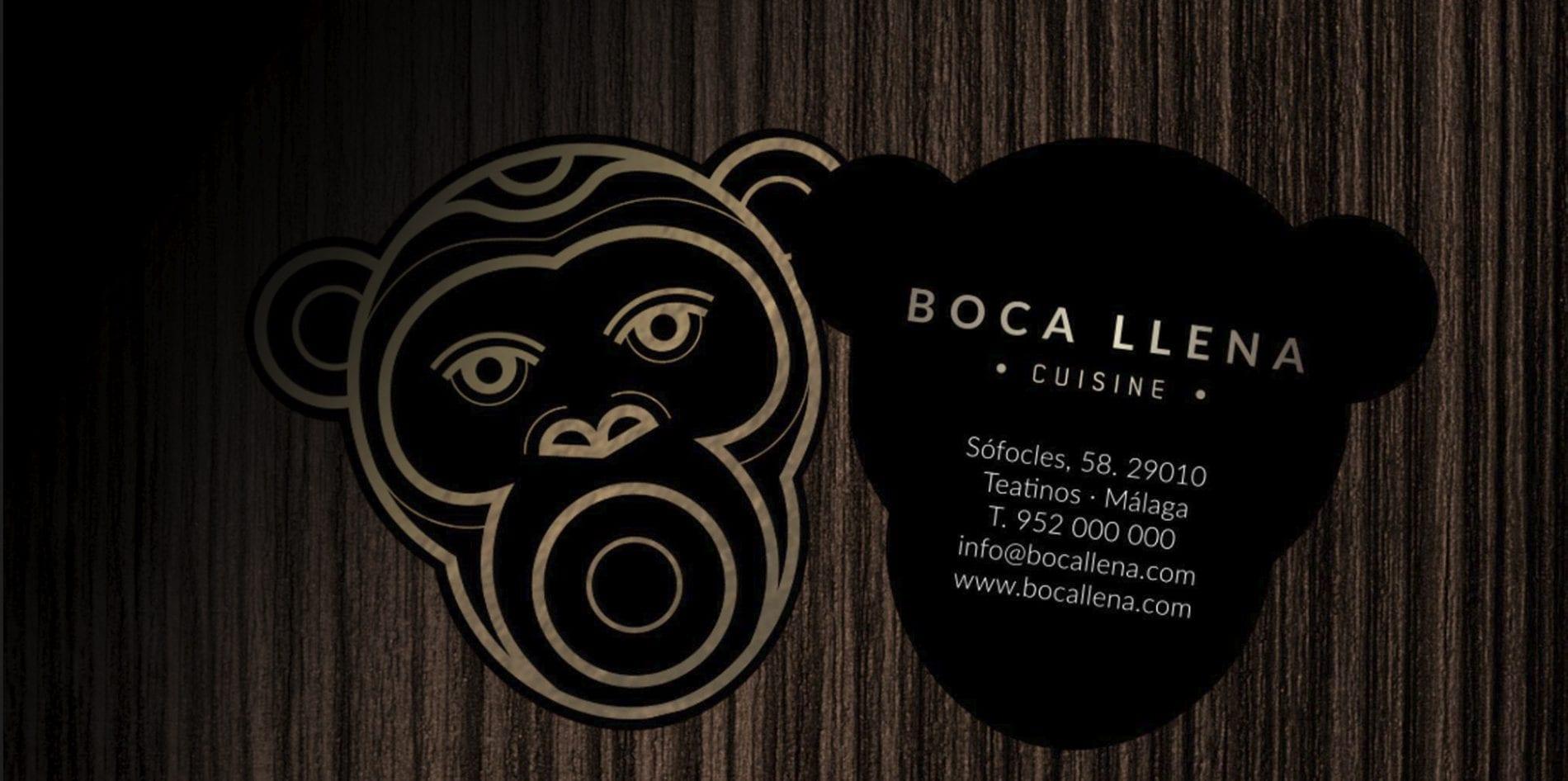 Diseño de logotipo y branding para restaurante Bocallena en Málaga