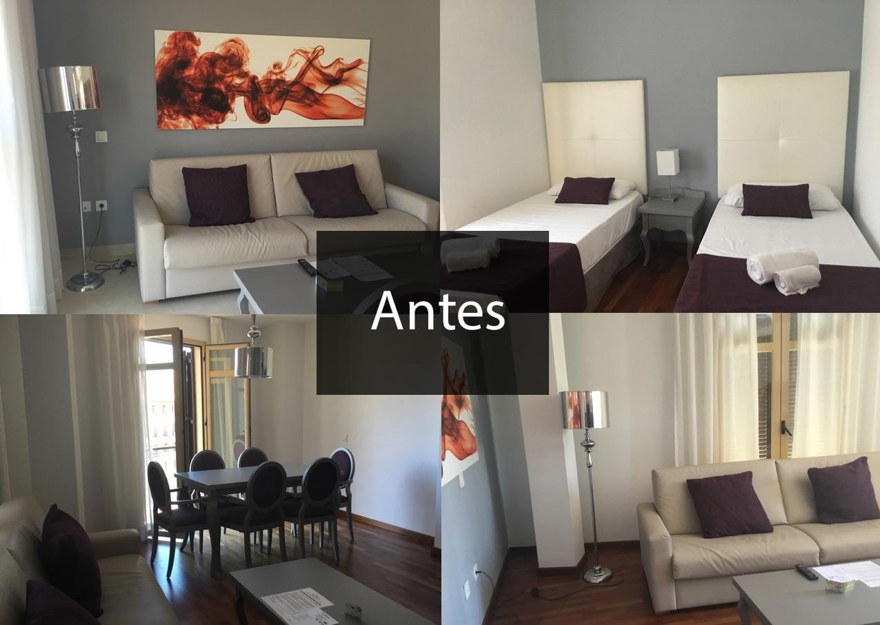 Proyecto de decoración en apartamentos vacacionales en el centro de Málaga