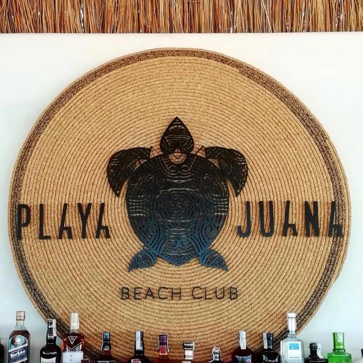 diseño de logotipo para playa juana.