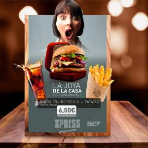 restaurante Xpress, campaña creativa para carteles exteriores del local