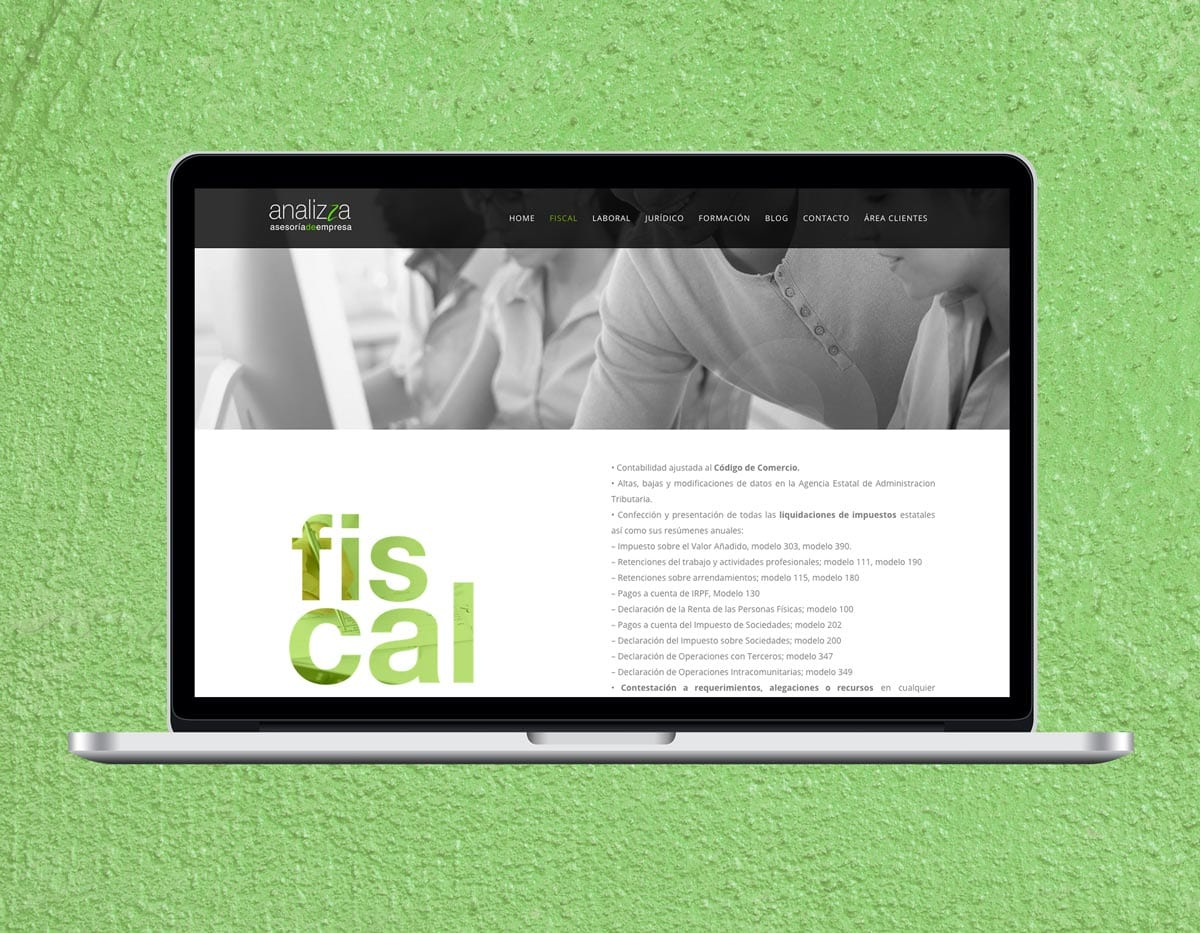 diseño de pagina web para asesoria