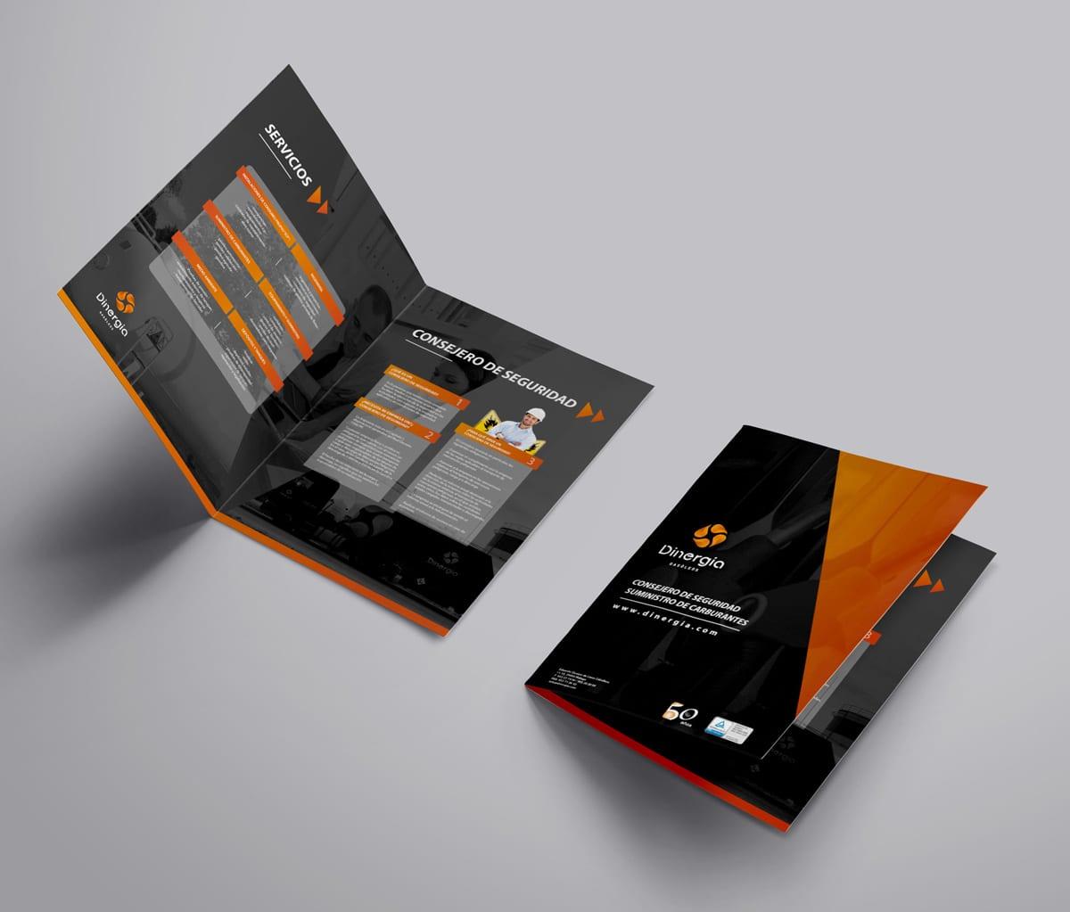 Dinergia, Málaga, diseño de catalogo para empresa de energia