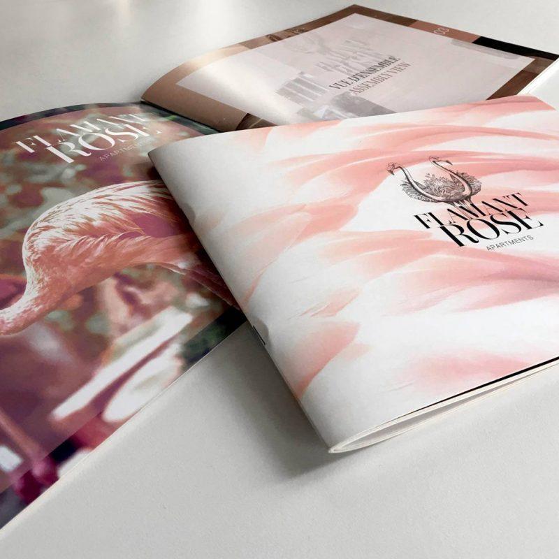 Flamant rose, diseño de catalogo