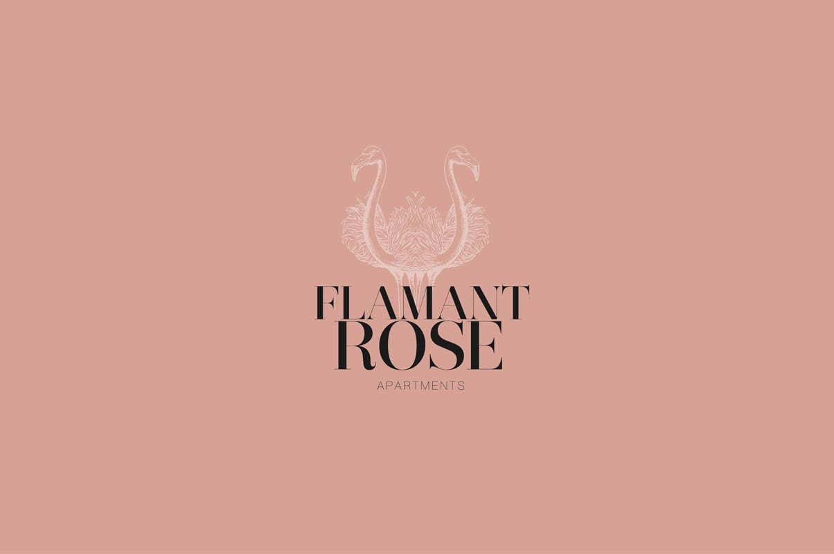 Flamant rose, apartamentos, Tanger, gráfica, branding