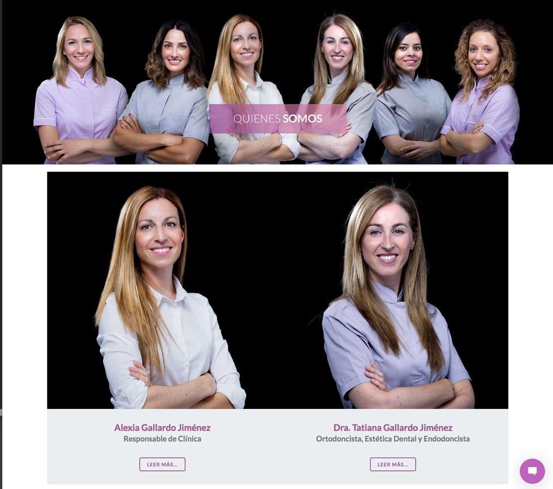 Clínica Dental, diseño web, sesión fotográfica