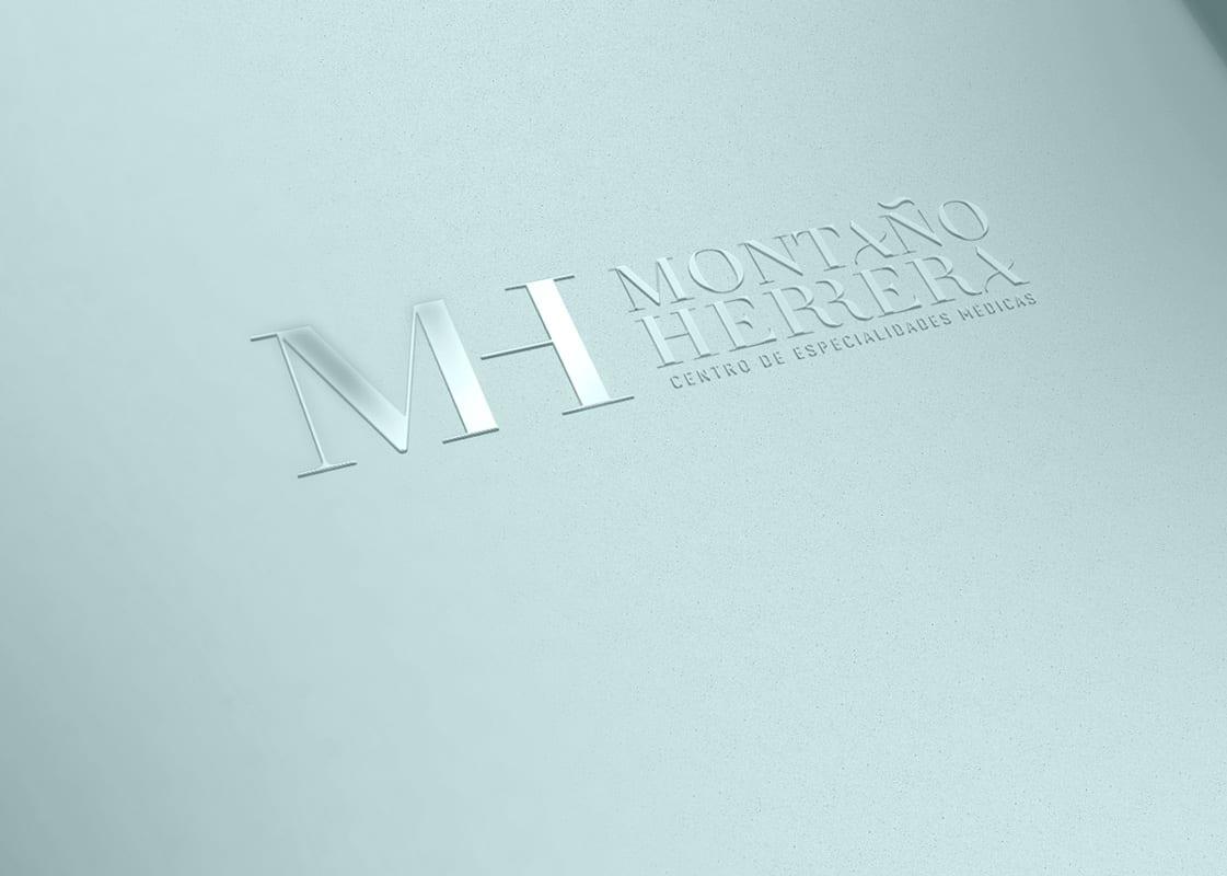 Montaño Herrera, diseño de logotipo minimalista y elegante