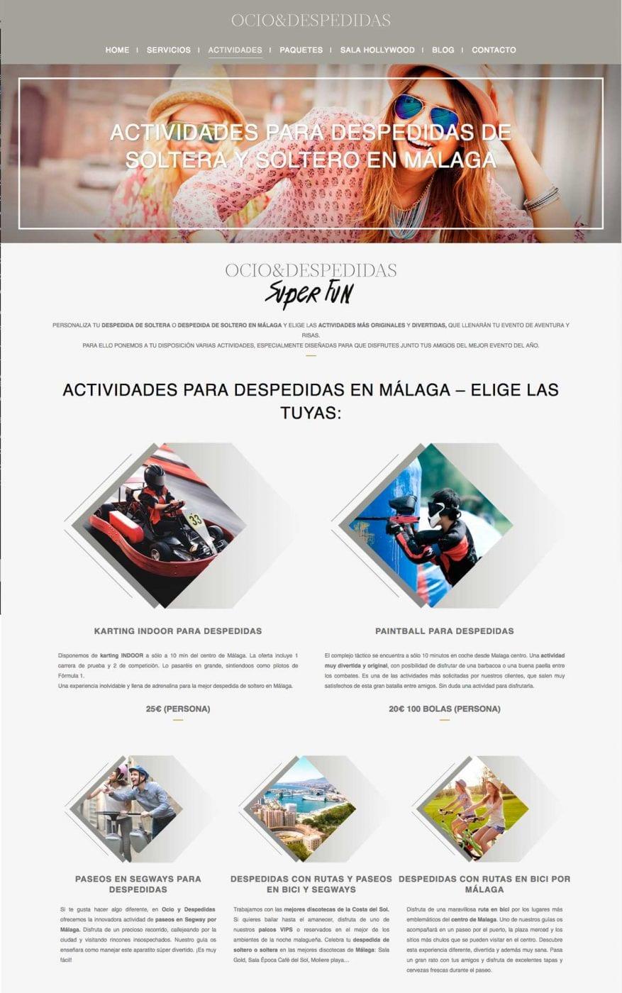 pagina web para empresa de servicios