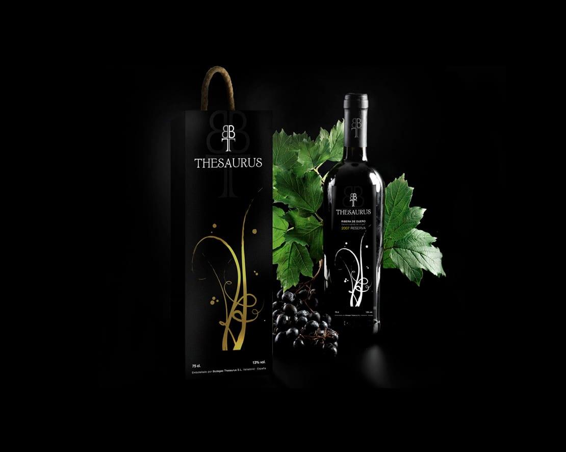 diseño de botellas de vino elegantes
