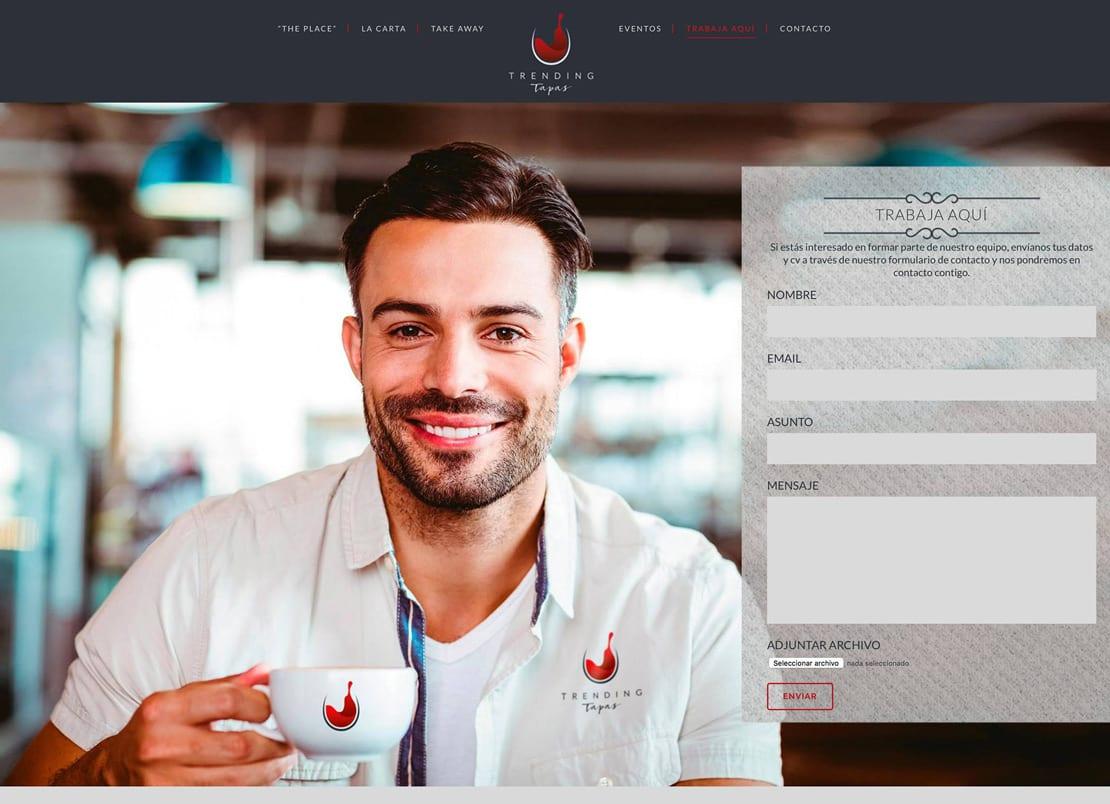 Diseño de contacto para restaurante