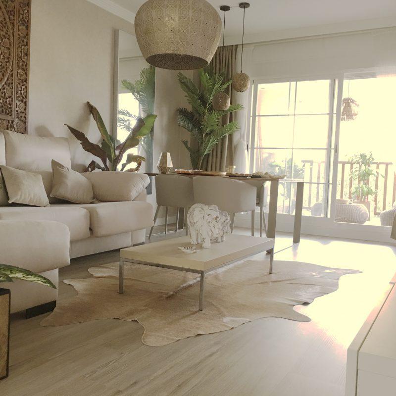 diseño de espacios interiores. salon para apartamento vacacional
