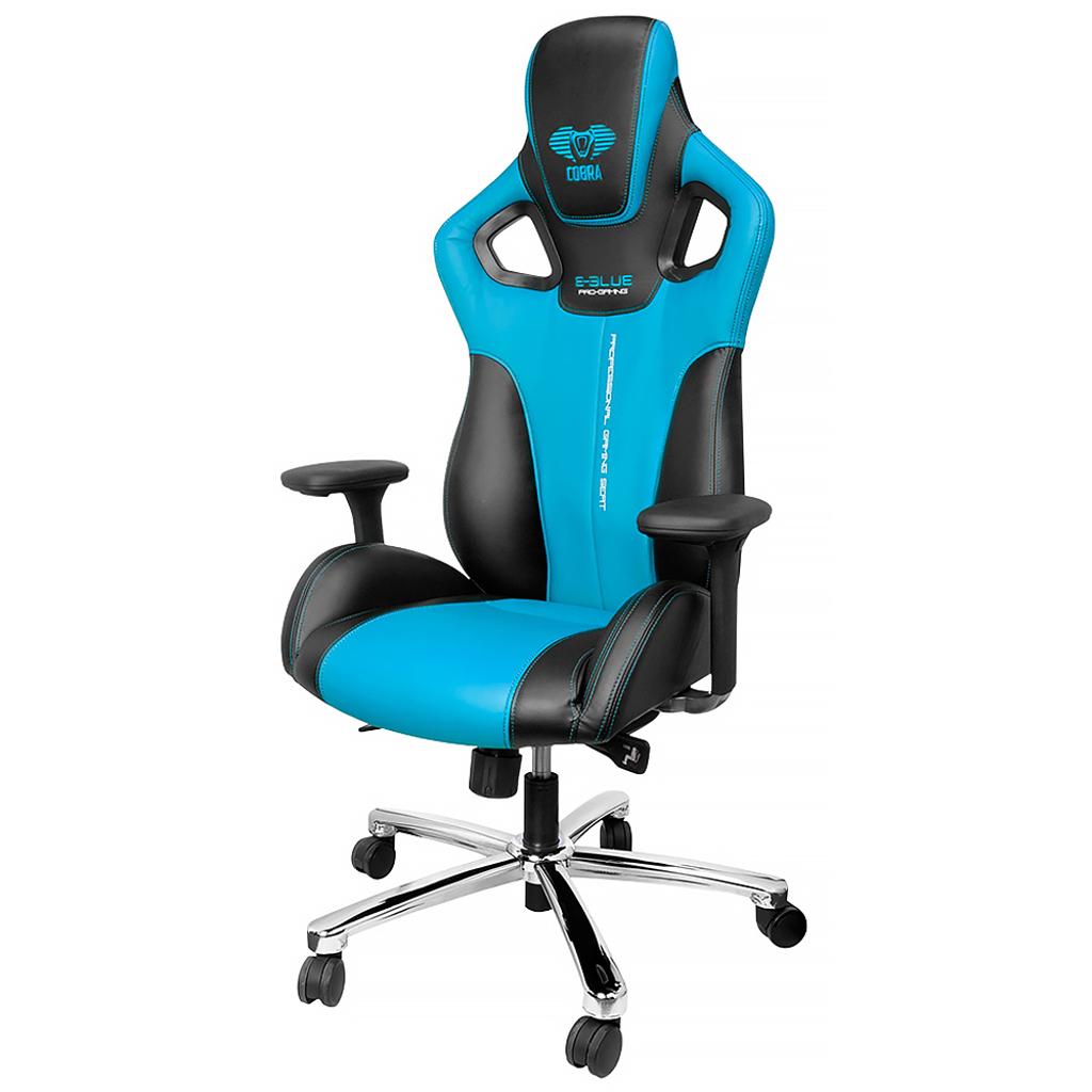 Chaise Cobra bleue et noire pour gamer  Tanguay