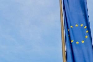 Unia Europejska flaga UE - hamulec bezpieczeństwa