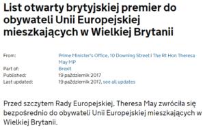 list Theresy May do Polaków