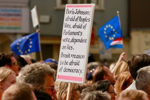 boris johnson protesty brexit