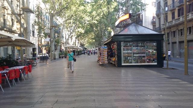 La Rambla w Barcelonie - Las Ramblas