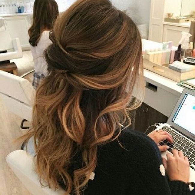 half up wedding hairstyles for long hair 7