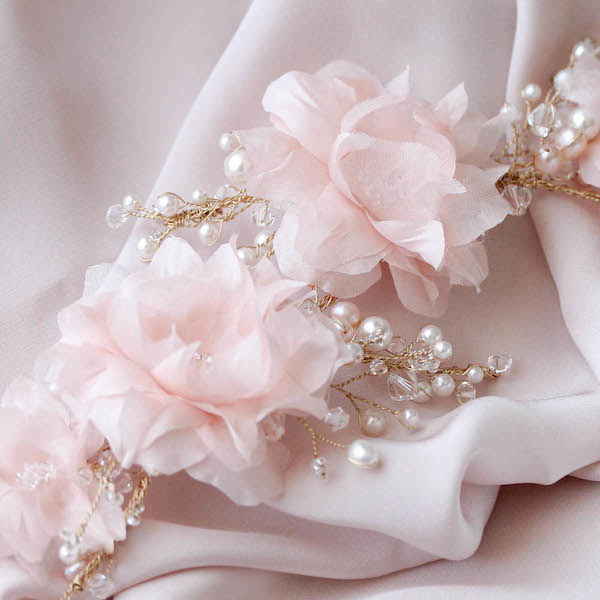 Wild And Whimsy A Bridal Headpiece With Silk Flowers