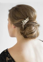 aries delicate pearl bridal hair