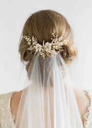 jasmine floral wedding hair comb