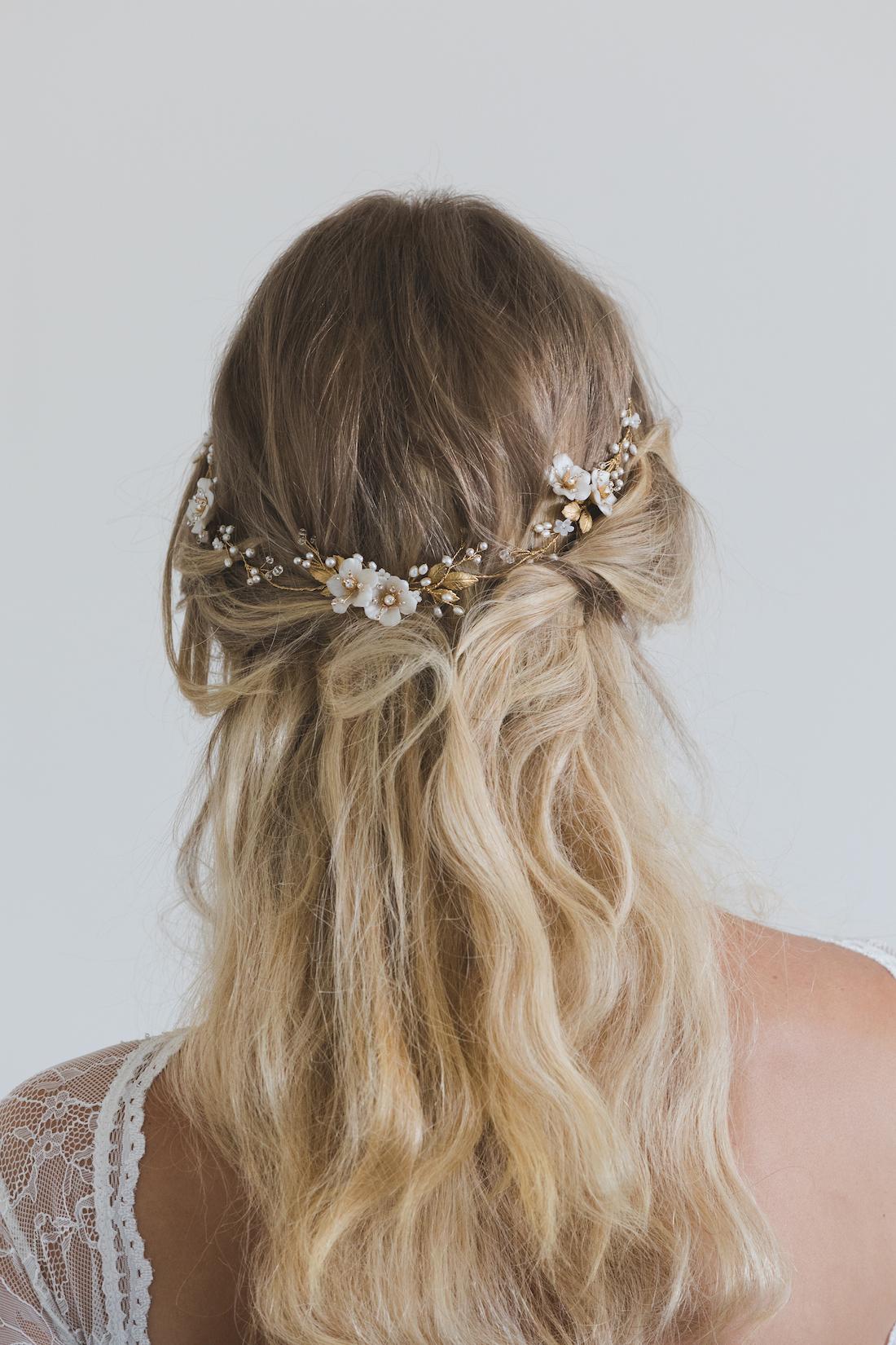 poetic floral bridal hair vine 2