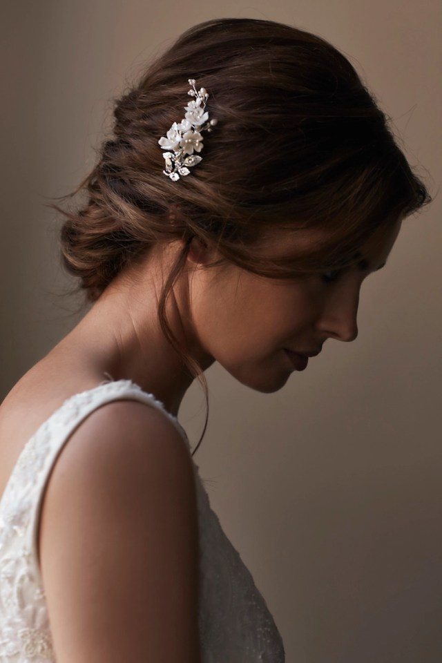marquise | side wedding comb